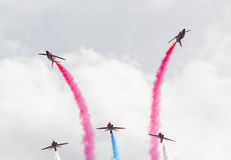 RAF Red Arrow aerobatic show in Tallinn, Estonia Royalty Free Stock Images