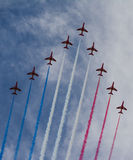 RAF Red Arrows stock afbeelding