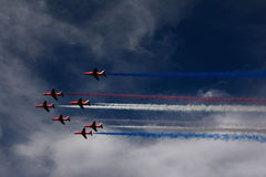 RAF Red Arrows Royalty-vrije Stock Foto's