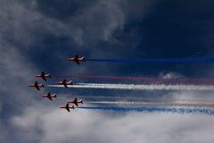 RAF Red Arrows royalty-vrije stock foto's