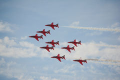 RAF Red Arrows Fotografia de Stock Royalty Free