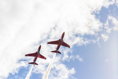 RAF Red Arrows aerobatic show in Tallinn, Estonia Royalty Free Stock Images