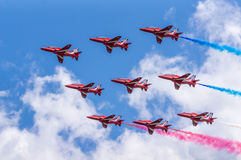 RAF Red Arrows Air Display Team Royalty Free Stock Photos