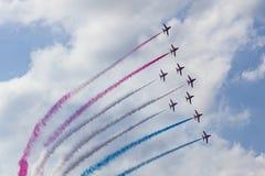 RAF Red Arrows in BAE Hawk-T1 trainers Stock Fotografie