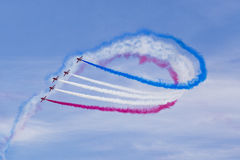 RAF Red Arrows in BAE Hawk-T1 trainers Stock Afbeeldingen