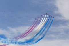 RAF Red Arrows in BAE Hawk T1 trainers Stock Images