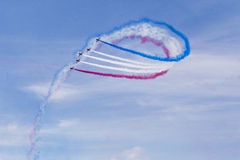 RAF Red Arrows in BAE Hawk T1 trainers Royalty Free Stock Photos