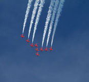 RAF Red Arrows Display Team Foto de Stock