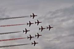 RAF Red Arrows Display Team Stockfotos
