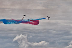RAF Red Arrows Display Team Royaltyfria Foton