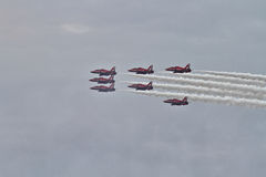 RAF Red Arrows Display Team Arkivfoton