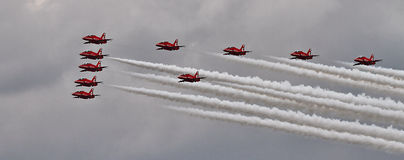 RAF Red Arrows Display Team Stock Afbeeldingen