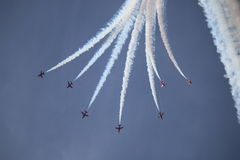 The RAF Red Arrows Display Team. Royalty Free Stock Photos