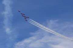 RAF Red Arrows en entraîneurs de T1 de BAE Hawk Photo stock