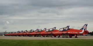 Raf Red Arrows 2014 new tail Royalty Free Stock Images