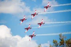 RAF Red Arrows Performing uma mostra Foto de Stock
