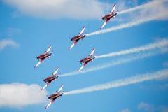 RAF Red Arrows Performing uma mostra Imagens de Stock Royalty Free