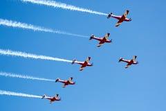 RAF Red Arrows Performing uma mostra Fotos de Stock