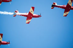 RAF Red Arrows Performing uma mostra Imagens de Stock