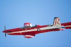 RAF Red Arrows Performing uma mostra Fotos de Stock Royalty Free