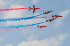 RAF Red Arrows Team Imagem de Stock Royalty Free