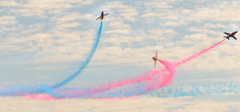 RAF Red Arrows Team Foto de Stock Royalty Free