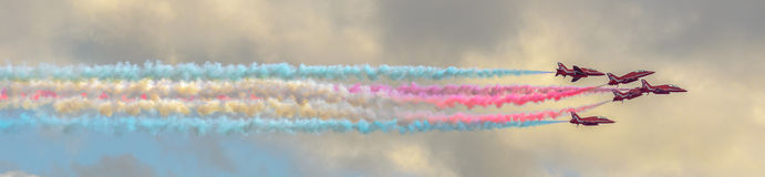 RAF Red Arrows Team Fotos de Stock Royalty Free