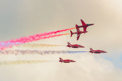 RAF Red Arrows Team Fotografia de Stock Royalty Free
