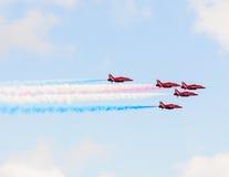 RAF Red Arrows Team Stock Photo