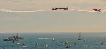 RAF Red Arrows Team Royalty Free Stock Photography