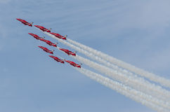 RAF Red Arrows Team Royalty Free Stock Photos