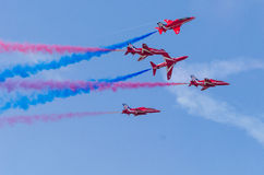 RAF Red Arrows Team Stock Photo