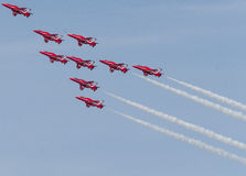 RAF Red Arrows Team Stock Photos
