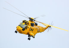 RAF Sea King. Is a search and rescue helicopter in the UK and due to be retired by 2016 after being in service since 1977.  This one was flown by HRH Prince Royalty Free Stock Photography
