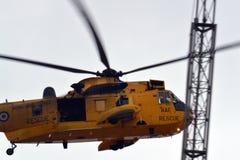 RAF Sea konung Helicopter Fotografering för Bildbyråer
