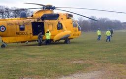 RAF Sea konung Helicopter Royaltyfri Foto