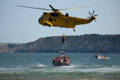 RAF Search and Rescue Seaking Royalty Free Stock Photos