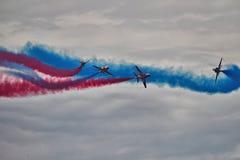RAF strzała pokazu Czerwona drużyna Zdjęcie Royalty Free