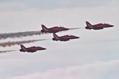 RAF strzała pokazu Czerwona drużyna Zdjęcie Stock