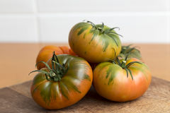 Raf tomatoes, salad greens Stock Photography