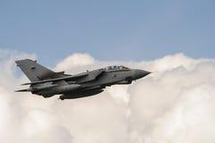 RAF Tornado. Fighter bomber in flight Stock Image