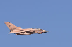RAF Tornado GR fighter bomber in dessert camourflage Stock Photography