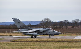 RAF Tornado Jet taxiing. Stock Photos