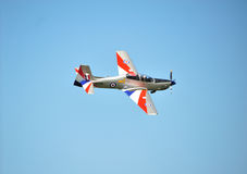 RAF Tucano in 2011 Display Colours Royalty Free Stock Photos
