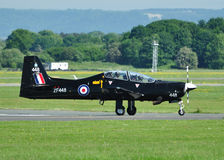 RAF Tucano Trainer. Taxiing at Linton on Ouse Royalty Free Stock Photo