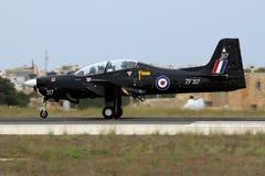 RAF Tucano w Czarnym planie Obrazy Royalty Free