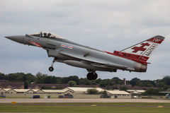 RAF Typhoon Landing bij RIAT Stock Foto