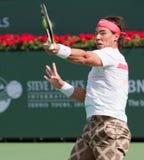 Rafaël (Rafa) Nadal bij 2010 BNP Open Paribas Royalty-vrije Stock Foto's