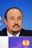 Rafa Benitez пресс-конференции Челси стоковые фото