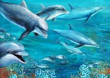 Rafa koralowa - ilustracja dla dzieci royalty ilustracja